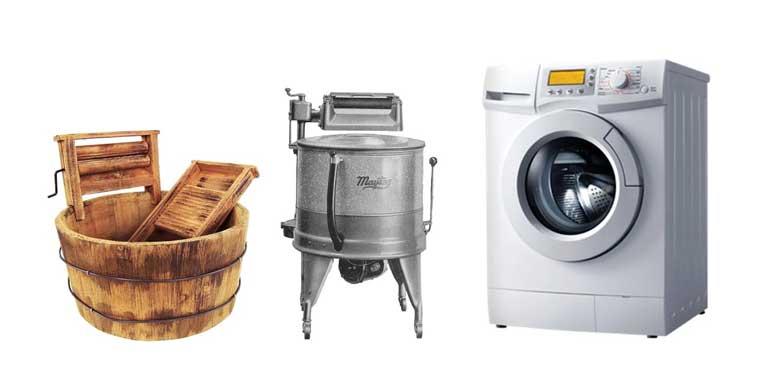 çamaşır makinesinin kısa tarihi